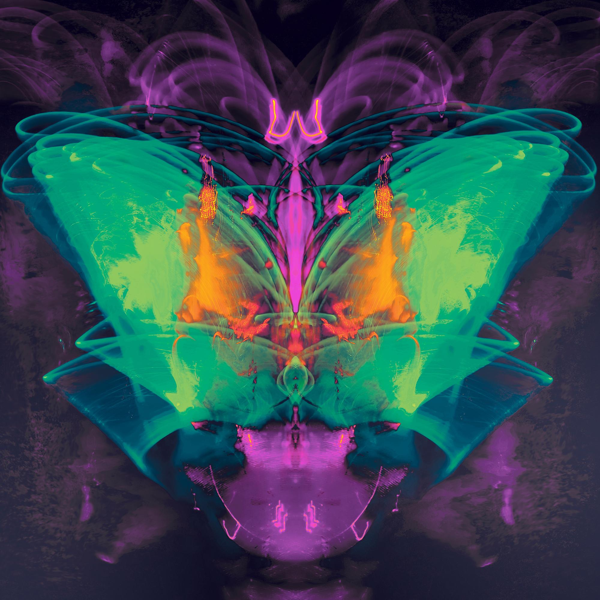 Satan's Butterfly- Green 20x20